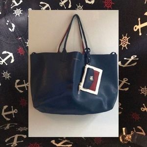 NWT Nautical Reversible Tommy Hilfiger Tote/wallet